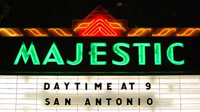 Digital Art - Majestic Theater Marquee Classic Cinema Americana San Antonio Accented Edges Digital Art by Shawn O'Brien