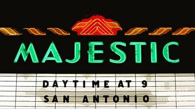 Photograph - Majestic Theater Marquee Classic Cinema Americana San Antonio Cutout Digital Art by Shawn O'Brien