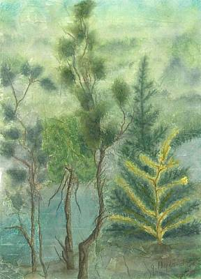 Pine Needles Mixed Media - Majestic Trees by Jeanne Hyland-Curtin