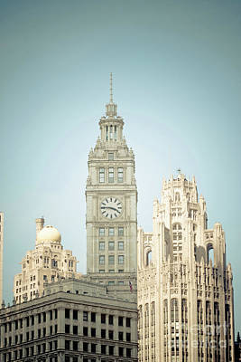 Majestic Vintage Buildings Chicago Art Print