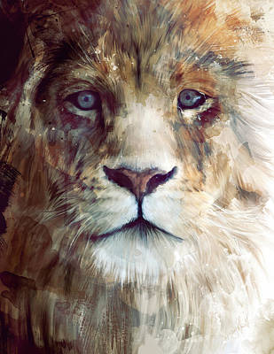 Lion Illustrations Painting - Majesty by Amy Hamilton