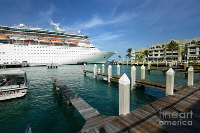 Ship Photograph - Majesty Of The Seas Docked At Key West Florida by Amy Cicconi