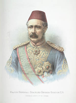 Fez Photograph - Major General Charles Gordon by British Library