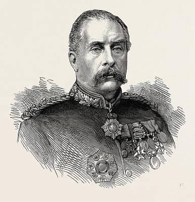 Rhythm And Blues Drawing - Major-general Sir Gerald Graham R.e. V.c by English School