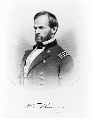 Autographed Photograph - Major General William T Sherman by Mountain Dreams