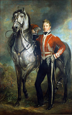 Infantry Painting - Major George Cunningham C.1820 by James Howe