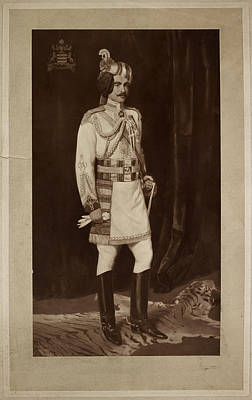Major Hh Maharaja Sir Ganga Singh Print by British Library