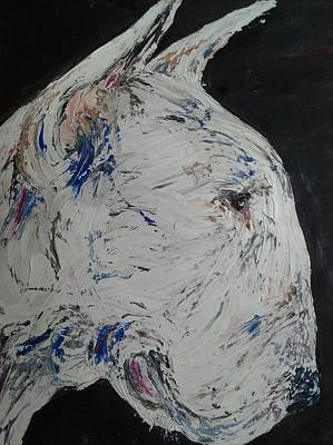 English Bull Terrier Painting - Major by Janette Ireland