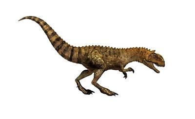 Majungasaurus Dinosaur Art Print