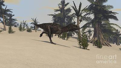 Digital Art - Majungasaurus In A Prehistoric by Kostyantyn Ivanyshen