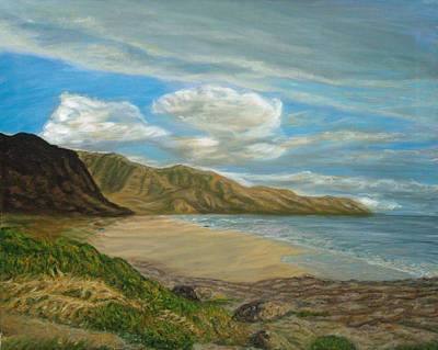 Painting - Makaha Beach by Michael Allen Wolfe