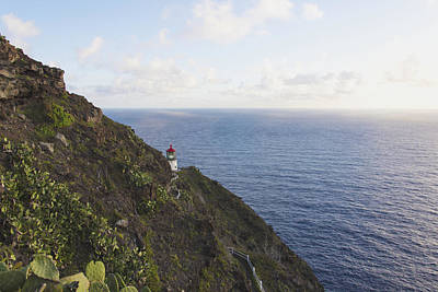 Sun Photograph - Makapuu Point Lighthouse 1 - Oahu Hawaii by Brian Harig