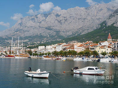 Photograph - Makarska Harbour - Croatia by Phil Banks