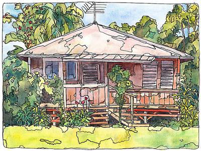 Mango Mixed Media - Makawao House by Stacy Vosberg