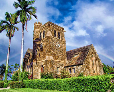 Photograph - Makawao Union Church 1 by Dawn Eshelman