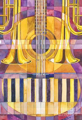 Trumpet Painting - Make A Joyful Noise by Mark Jennings