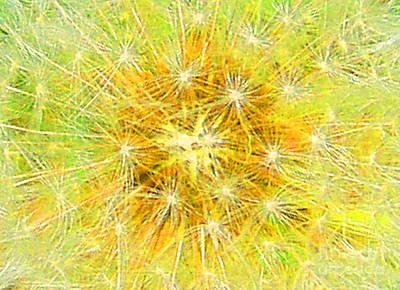 Make A Wish In Greenish Yellow Art Print