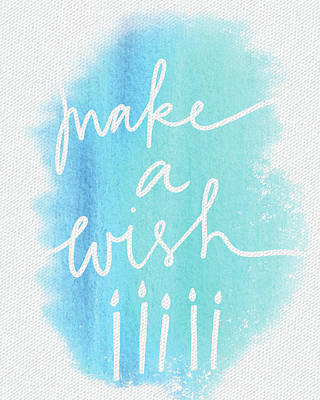 Holiday Painting - Make A Wish by Katie Doucette
