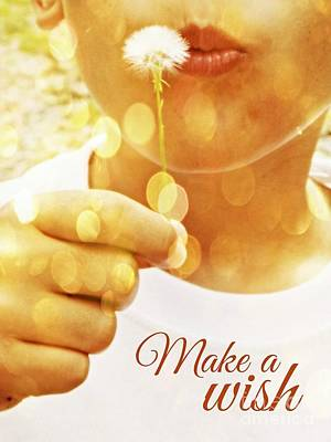 Digital Art - Make A Wish by Valerie Reeves