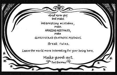 Make Good Art Art Print by Kerri White