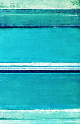 Royalty-Free and Rights-Managed Images - Make it Last - Turquoise Abstract Art Painting by CarolLynn Tice