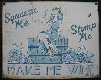 California Vineyard Painting - Make Me Wine by Beverley Harper Tinsley