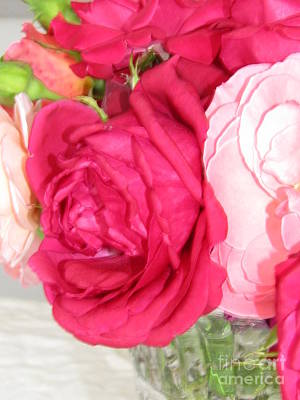 Roses Photograph - Make Mine Pink Roses by Margaret Newcomb
