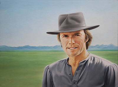 Dirty Harry Painting - Make My Day Clint Eastwood by Claire Szalay Phipps
