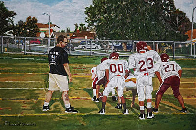 Pee Drawing - Make The Play by Marvin C Brown