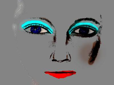 Art Print featuring the drawing Make Up Digital Painting By Saribelle Rodriguez by Saribelle Rodriguez