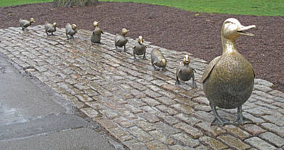 Boston Public Garden Photograph - Make Way For Ducklings by Barbara McDevitt
