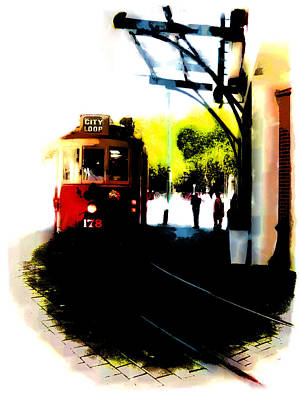 Make Way For The Tram  Art Print