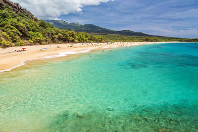 Beach Photograph - Makena Beach Maui by Pierre Leclerc Photography