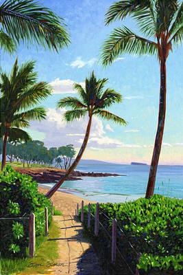 Princes Painting - Makena Beach - Maui by Steve Simon