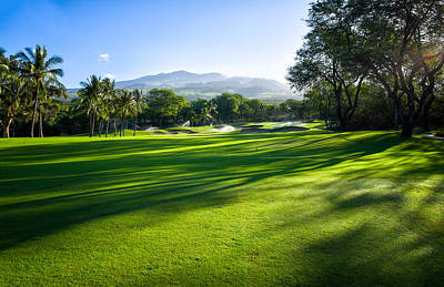 Makena Golf Course In Makena Area Art Print by Panoramic Images