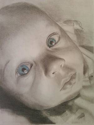 Pencil Drawings Drawing - Makenna by Lury Norris
