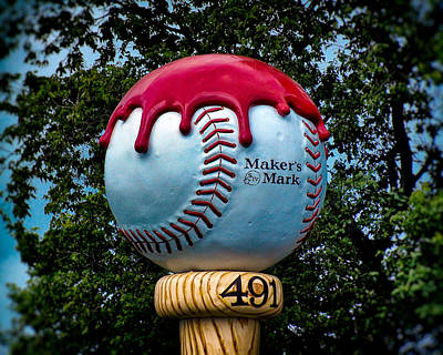 Photograph - Maker's Mark Baseball Bourbon by Bill Swartwout