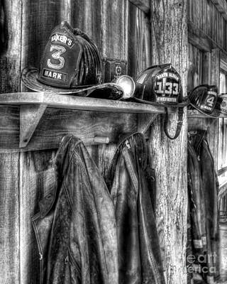 Photograph - Maker's Mark Firehouse Bw by Mel Steinhauer