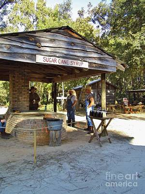 Historical Photograph - Making Cane Syrup by D Hackett