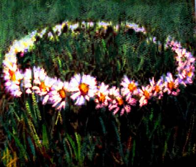 Painting - Making Daisy Chains by Hazel Holland