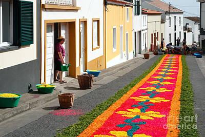 Making Flower Carpets Art Print by Gaspar Avila