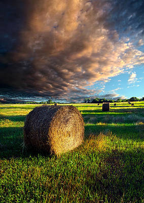 Hay Bale Photograph - Making Hay by Phil Koch