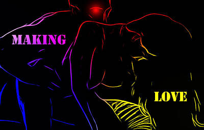 Making Love Art Print by Steve K