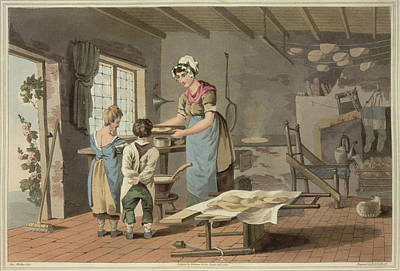 Cooks Illustrated Photograph - Making Oat Cakes by British Library