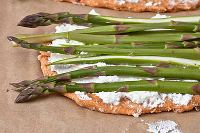 Asparagus Photograph - Making Pizza by Tom Gowanlock