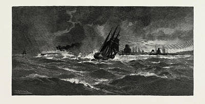 Storm Drawing - Making Port Hope In A Storm, Canada by Canadian School
