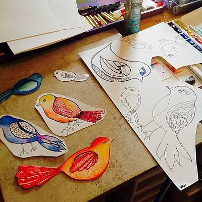 Making Some #birds...just Felt Like Art Print