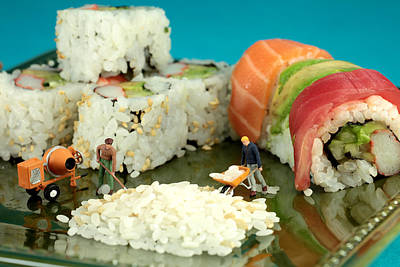 Photograph - Making Sushi Little People On Food by Paul Ge