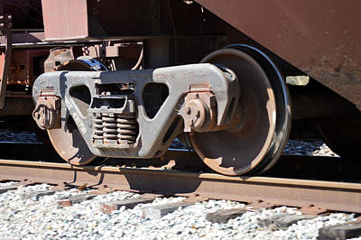 Photograph - Making Tracks - Railroad Train Wheels by rd Erickson