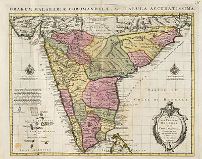 Malabar And Coromondel Art Print by British Library